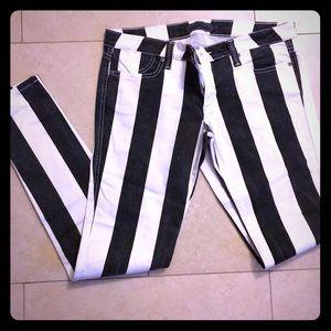 Frankie-B Striped Jeans